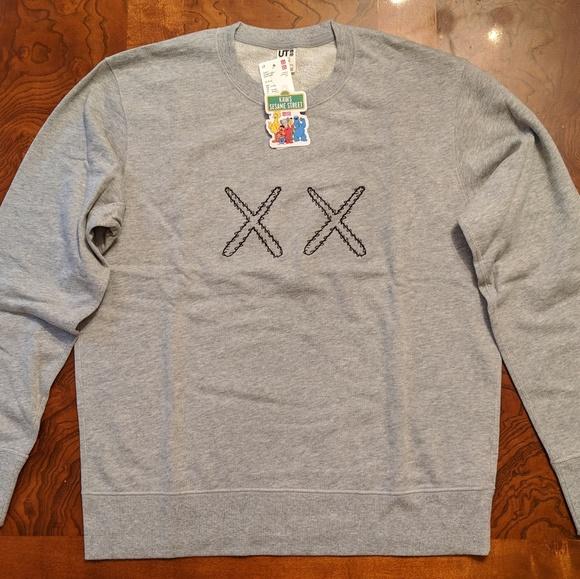 0921d048cad Uniqlo Sweaters | Kaws X Sesame Street Xx Graphic Sweatshirt Gray ...